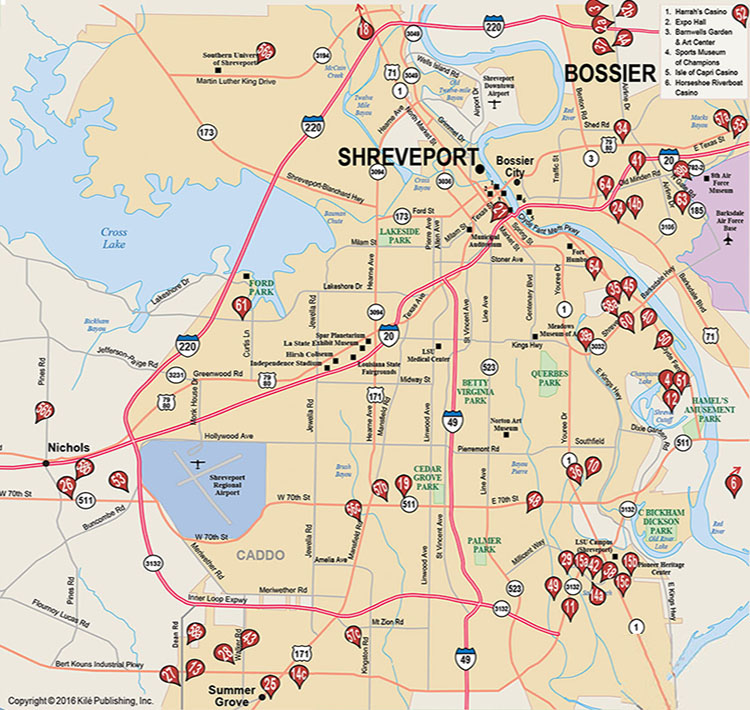 shreveport and bossier apartment rentals map aptshopper